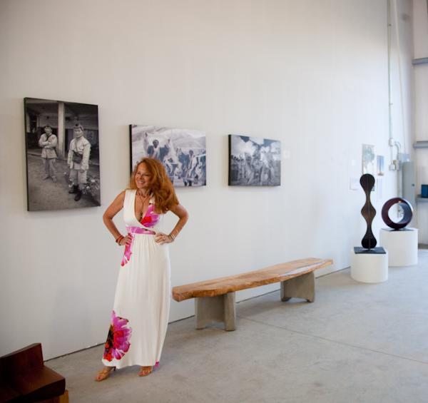 Terri Gold at Benson-Keyes opening